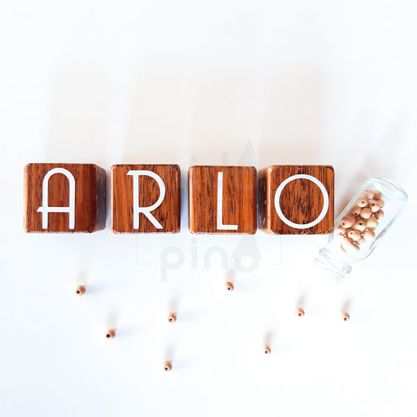 Hardwood Name Blocks