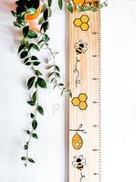 Bee height chart (wide) No quote.