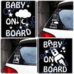 car decals, baby on board, vinyl card decal, kids on board