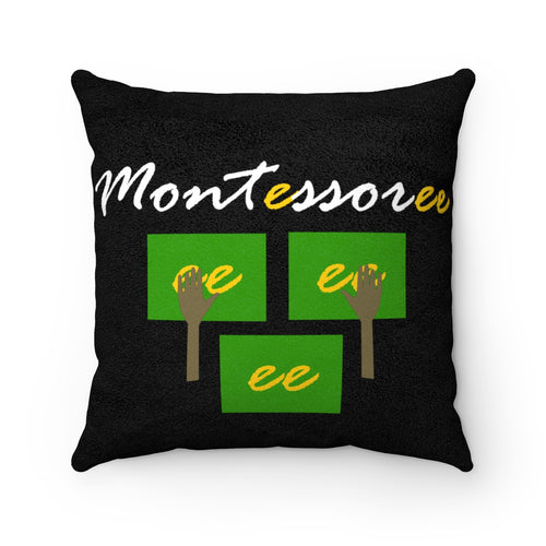 Montessoree Faux Suede Square Pillow