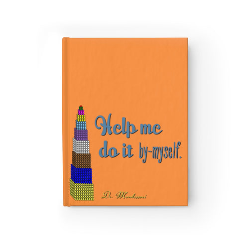 ByMyself Orange Montessori Journal - Ruled Line