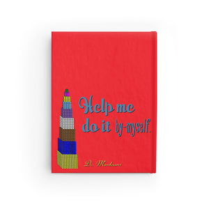 ByMyself Red Montessori Journal - Ruled Line