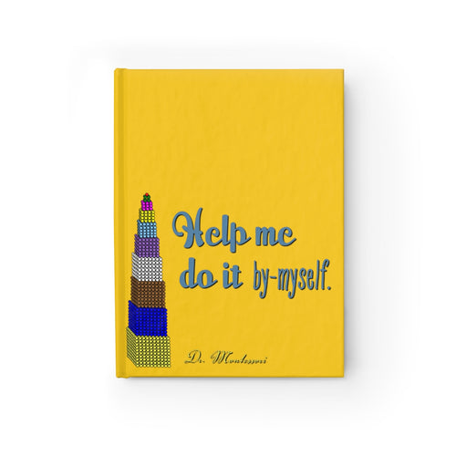 ByMyself Yellow Montessori Journal - Ruled Line