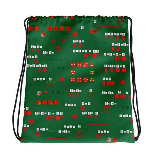 Fractions Drawstring bag