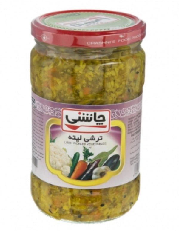 ⁨Chashni Mixed Pickled Vegetables Litteh  ترشی لیته⁩