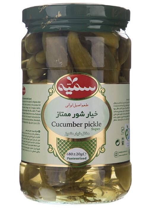 Somayeh Cucumber Pickle خیارشور ممتاز سمیه⁩⁩⁩