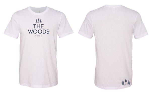 The Woods Adult Short Sleeve- White