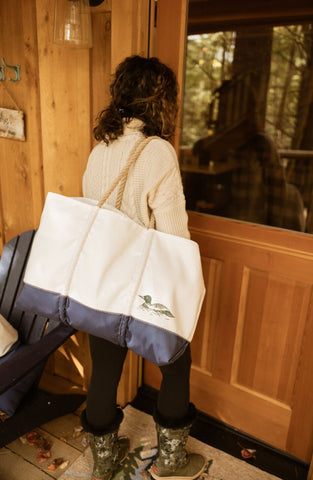 Three Pines Large Zip Top Sea Bags® Weekender: The Loon