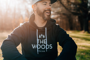 The Woods Maine: Adult Lightweight Pullover Hoodie Navy