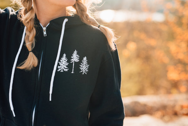 The Norway: Adult Zip Lightweight Hoodie