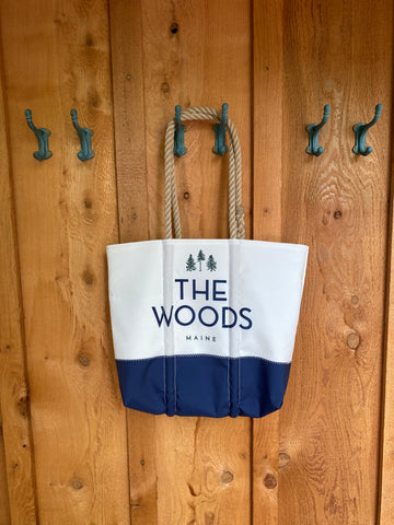 """The Woods Maine"" Classic Medium Sea Bags® Tote"