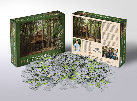 The Woods Maine Treehouse 1K Piece Puzzle