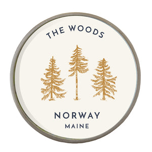 The Norway Maine Wine Bottle Coaster by CHART Metalworks