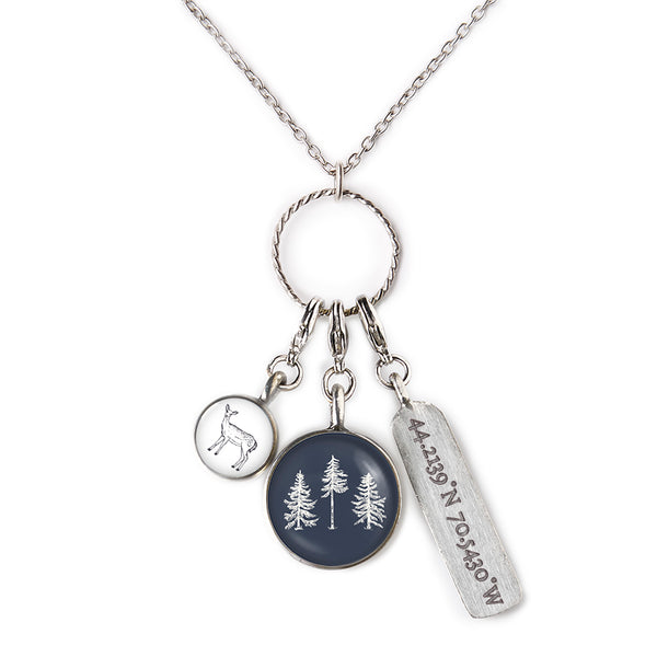 The Woods Maine Three Charm Necklace (4 Designs)