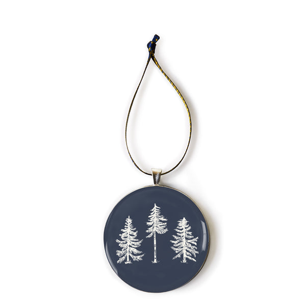 The Woods Maine Keepsake Ornament: Three Pines