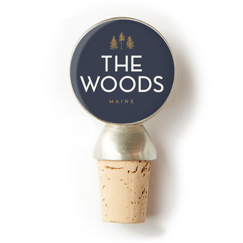 The Woods Maine Wine Bottle Stopper by CHART Metalworks