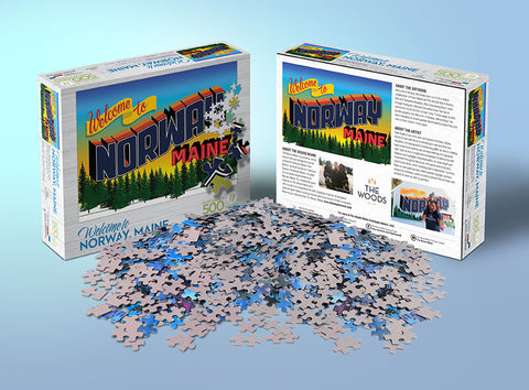 "Pre-Order ""Welcome To Norway Maine"" 500 piece puzzle"