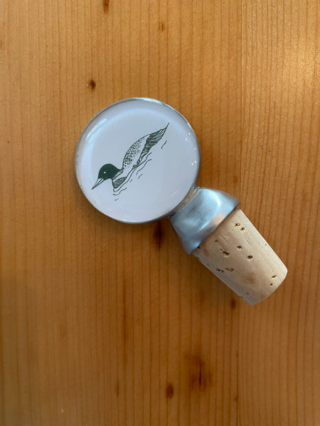 The Loon Wine Bottle Stopper by CHART Metalworks