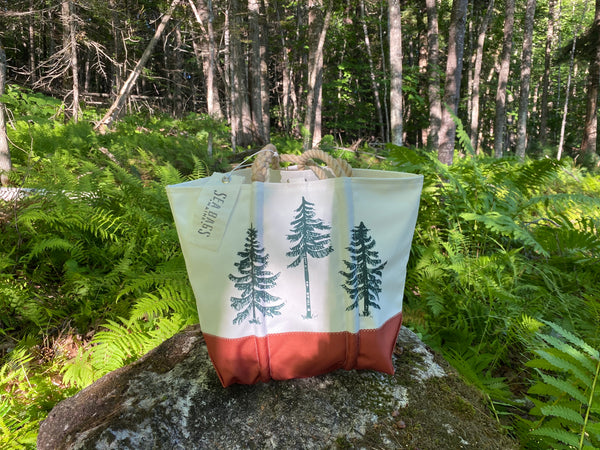 Three Pines Medium Sea Bags® Tote: The Deer by The Woods Maine