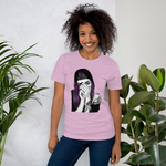 crystaleyeshop | Violet hair girl woman t-shirt | T-shirt