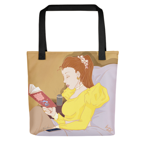 Tote bag con  La lettrice | Subjective art LIMITED EDITION \ Donna