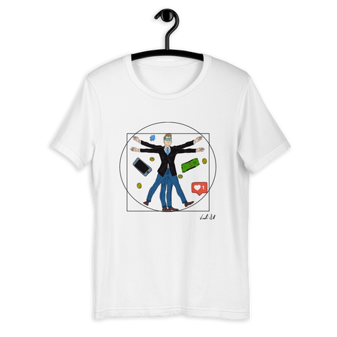 T-shirt with Vitruvian man | Subjective art LIMITED EDITION \ Unisex