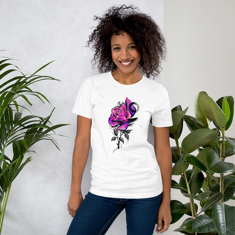T-shirt con Dark rose | T-shirt with Dark rose \ Donna-Woman