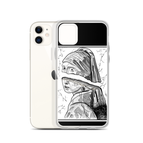 Immagine di Cover per iPhone con La ragazza con lorecchino di perla | Subjective art LIMITED EDITION  Unisex