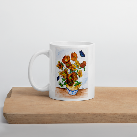 Cup with Sunflowers | Subjective art LIMITED EDITION \ Woman
