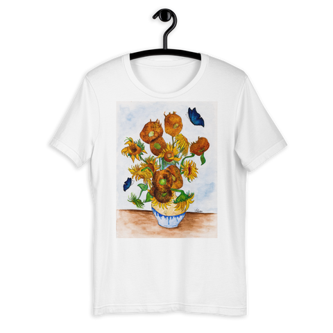 T-shirt with Sunflowers | Subjective art LIMITED EDITION /