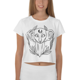 crystaleyeshop | Crop-top con Shpynx cat | Crop-top with Sphynx cat \ Donna-Woman | Crop top All-over