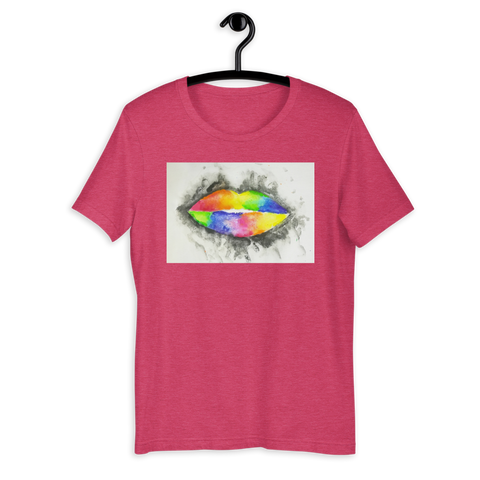 T-Shirt con Rainbow lips
