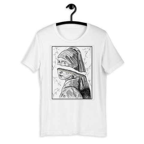T-shirt con La ragazza con l'orecchino di perla | Subjective art LIMITED EDITION \ Unisex