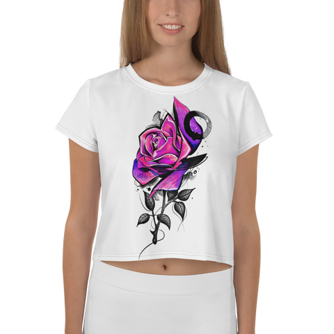 Immagine di Crop-top con Dark rose | Crop-top with Dark rose  Donna-Woman