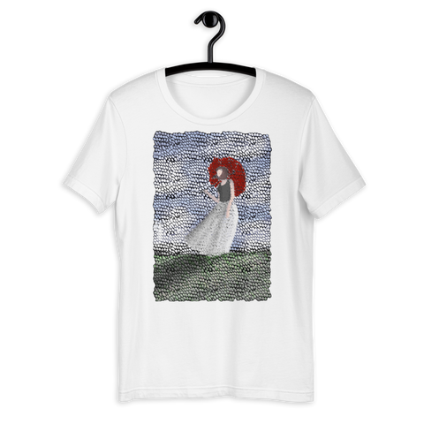 T-shirt con Donna con il parasole | Subjective art LIMITED EDITION \ Donna