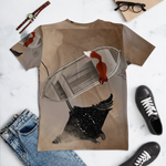crystaleyeshop | T-shirt con ritratto di volpe nel mare \T-shirt with fox portait in the sea | Uomo-Man | T-shirt All-over