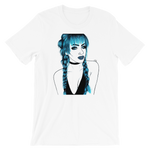 crystaleyeshop | T-shirt Blue hair girl | T-shirt