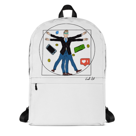 Backpack with Vitruvian man  | Subjective art LIMITED EDITION \ Unisex