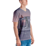 crystaleyeshop | T-shirt con ritratto di volpe su casa - T-shirt with fox portrait on the house | Man - Uomo | T-shirt All-over
