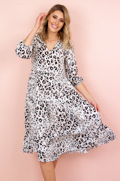 ALICE Dress in Leopard Dress Harte Style