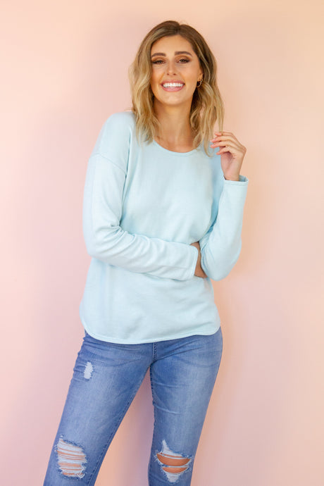 Codi Sweater in Baby Blue Jumper Harte Style