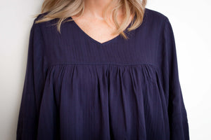 Reed Top in Navy TOP Harte Style