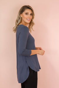 Tovie Top in Charcoal TOP Harte Style