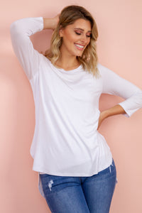 Tovie Top in White TOP Harte Style