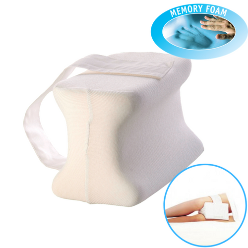 Memory Foam Knee Pillow - Adjustable Strap