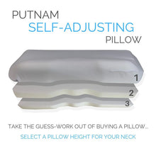 Load image into Gallery viewer, Putnam Self-Adjusting Pillow