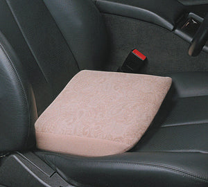 Car Seat Topper in a car