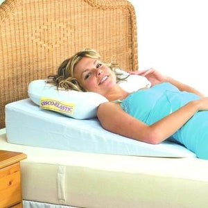 The Bed Wedge can be used while laying down