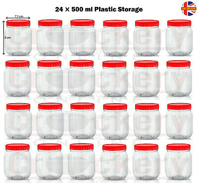 Plastic Storage 500ml sunpet jars 24 pack Food Spice