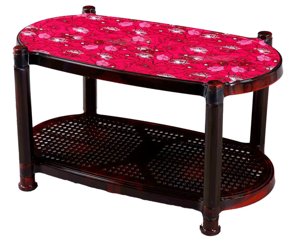 2 TIER TEA TABLE WITH WHEELS ( 82X43X49)